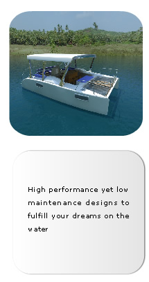 A range of award winning, record breaking water craft from 30 to 200 ft